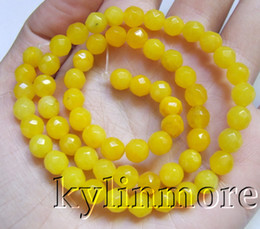 8SE09345a 6mm Jade Faceted Round Beads 15.5''