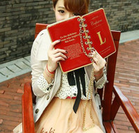 Wholesale Jade Fox Shoulder Bags Retro Vintage Book Book Red Black PU Leather