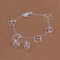 Wholesale S109 Silver Jewelry sets Earrings amp Bracelet Fashion Jewellry set