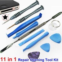 Wholesale 11 Repair Opening Tool Kit With Point Star Pentalobe Torx Screwdriver Metal Spudger Pry H436