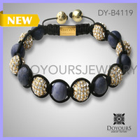 Wholesale 2013 evil eye medical id woven bracelet shambala bracelet