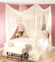 Adults Full Quadrate FREE SHIP~ 4 POST BED MOSQUITO NET FOUR CORNER POINT CANAPY BUG CANOPY QUEEN KING SIZE CURTAIN 62030