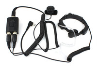 military equipment - Military Police Equipment Throat MIC Air Tube Headset Finger PTT for GP300 GP88 P110 Radios J0308A