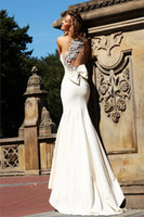 Wholesale 2013 Sexy One Shoulder Ivory Mermaid Satin Evening Dresses Beaded Floral Prom Dresses TE