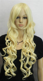 Wholesale NEW WOMEN quot S blonde LONG curly Cosplay FULL WIG DSCN0684