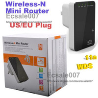 Wholesale Portable Mbps Wireless N Mini Router Internet Connection with WiFi Repeater for Laptop Phone
