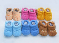 Wholesale pairs Baby shoes cotton padded shoes Toddler Shoes bed shoes E3