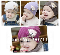 Wholesale pieces baby hat bear cotton cap years