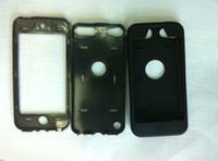 Wholesale Hybrid Impact Case Hard PC Silicone Skin Cover Case for ipod Touch th Gen DHL