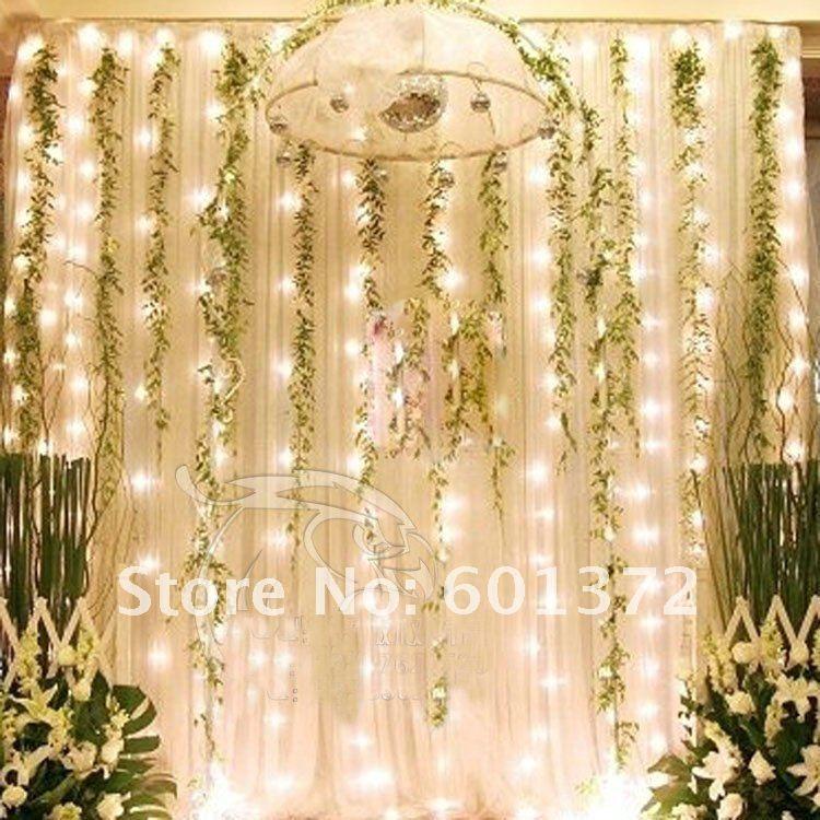 3*3m Led Curtain Light Christmas/Wedding/Party/Hotel Decoration,Led String Tree Light Patio ...