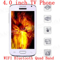 Wholesale 4 inch i9300 TV Phone Wifi FM Bluetooth Cellphone Dual SIM Card MP3 Quad Band