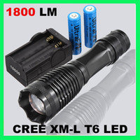 Wholesale Powerful W LM Zoomable CREE XM L T6 LED Flashlight Lamp Torch x18650 CH