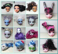 High School Toy Monster High Dolls Head PVC Figure Doll Acce...