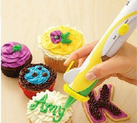 Wholesale Electronic Cupcake decorating cakes Frosting Deco Pen set with retil box
