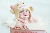 Wholesale Crochet Sock Monkey Baby Hat in Spring Colors Photo Prop Custom made fit for Month