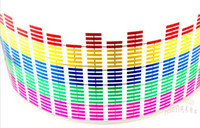 Wholesale EL car Sticker Equalizer Sound Music Control light color flashing with music rhythm cm