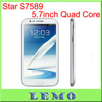 Wholesale Star S7589 Android smart Phone x720p Screen MTK6589 Quad core GB RAM G WCDMA MP