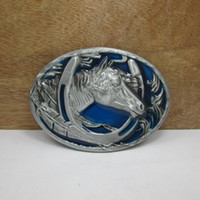 western belt wholesale - Horse belt buckle western belt buckle FP with pewter finish