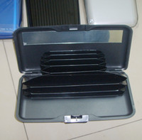 abs day - 300 aluminum card holder wallet with mix different styles solid color normal size and exlarge size