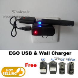 Wholesale Best Serving E cigarette Electronic Cigarette EGO T EGO F EGO W EGO USB amp Wall Charger e cig charger