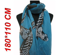 Wholesale 10pcs Fashion Women s Big Zebra Animal Print Scarf Shawl Wrap cm cm
