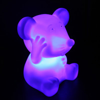 Wholesale high quality PVC mouse LED light bedroom ornament prom party decoration toy doll night light