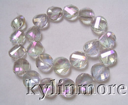 8SE08481a 14mm Glass Crystal Faceted Coin Beads 12""