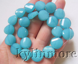 8SE08476a 14mm Glass Crystal Faceted Coin Beads 12""
