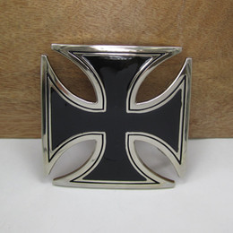 BuckleHome Chopper cross belt buckle with silver finish FP-03186 with continous stock free shipping