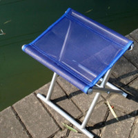 aluminium folding stool - Folding Fishing chair stool bench aluminium tube Light easy to carry color fishing gear HW0214