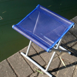 Wholesale Folding Fishing chair stool bench aluminium tube Light easy to carry color fishing gear