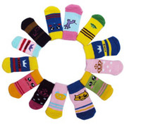 Wholesale Pet Socks muti colors dog socks cat socks non slip bottom