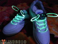 Wholesale Muti color Cool LED Flash Lighting Glow Shoelaces Shoe Laces DISCO Party Skating