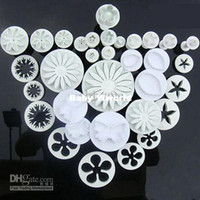 Wholesale 34pcs Cake decorating cutter fondant sugarcraft plunger flower Miniatures tool Cake Tool Drop Shippi