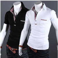 Men Cotton Polo 2013 new fashion casual wear Men Slim POLO shirt 2 colors