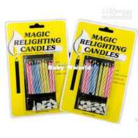 Wholesale Birthday party gift Eternal Cake candle blowing Magic Relighting candles Christmas gift