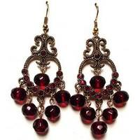 Wholesale ON SALE Bohemia style wine red grape beads EARRING Earrings Vintage fashion royal earring Jewelry