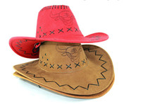 Wholesale 80pcs West Cowboy Wide Brim Hats Men and Women Outdoor Caps Topee Sunhat Sunbonnet