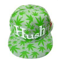 Wholesale 10pcs hot fashion womens mens lovers brand snapback HELLO Hush weed cap ajustable hat casual sports