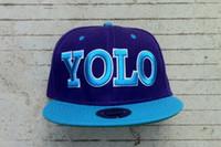 Wholesale Bst selling YOLO blue snapbacks hats Custom Fit Men desginer adjustable snap backs cap hat