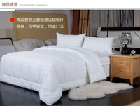 Wholesale fully cotton comforter quilt hotel comforter white twin double queen king size