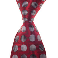 Wholesale mens neck ties wedding silk tie red with dot