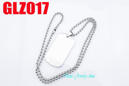 Wholesale High quality L stainless steel two side drawbench Big pendants necklace dog tag GLZ017