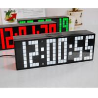 achat en gros de horloge numérique multifonctionnel-Large numérique Jumbo LED mur d'alarme Countdown Countup télécommande lumière multifonctionnel LED Horloge
