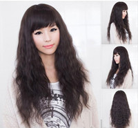 Wholesale New Style Womens Girls Sexy Long Fashion Full Wavy Hair Wig Colors Available