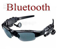 Wholesale New wireless Bluetooth Sunglasses Headset headphone Sports Sun Glass with retail box