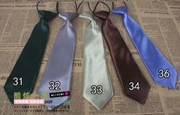 Wholesale boys Ties baby ties handmade baby tie solid color kids cravat kids neckwear mixed