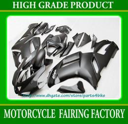 HOT sale all flat black Fairings for 2007 2008 Kawasaki Ninja ZX6R zx-6r ZX 6R 07 08 RX3c 3C
