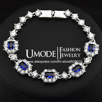 Wholesale Store Treasure White Gold Plated Top Quality Cubic Zirconia Stone Bracelet Umo