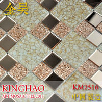 Wholesale KINGHAO mosaic supplies glass for kitchen backsplash tiles K00067